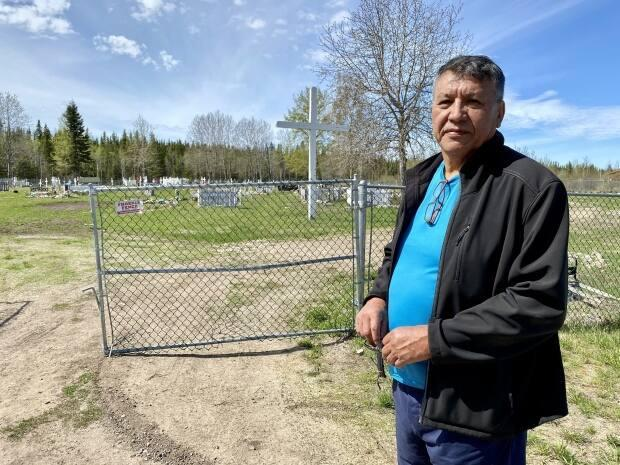 Wilfred Simon, a residential school survivor, says he called for a search for unmarked graves in Fort Resolution 13 years ago, but none was made. (Kate Kyle/CBC - image credit)