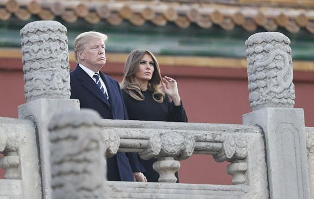 US President Donald Trump and his wife have been in Asia. Source: Getty
