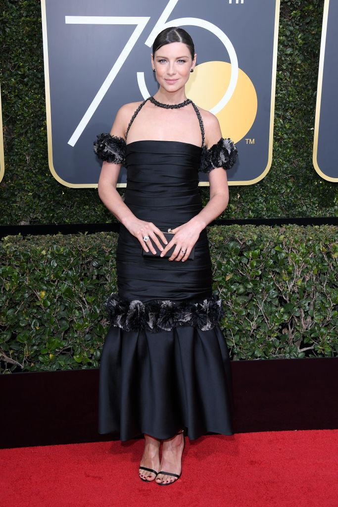 <p>Caitriona Balfe, nominated for <em>Outlander</em>, attends the 75th Annual Golden Globe Awards at the Beverly Hilton Hotel in Beverly Hills, Calif., on Jan. 7, 2018. (Photo: Venturelli/WireImage) </p>