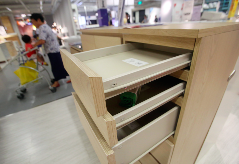 Eight children have died in connection with the Ikea drawers (Picture: Rex)