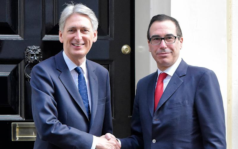 US Treasury Secretary Steven Mnuchin arrives for a meeting with Chancellor Philip Hammond at Downing Street on March 16, 2017 - Steve Back / Barcroft Media