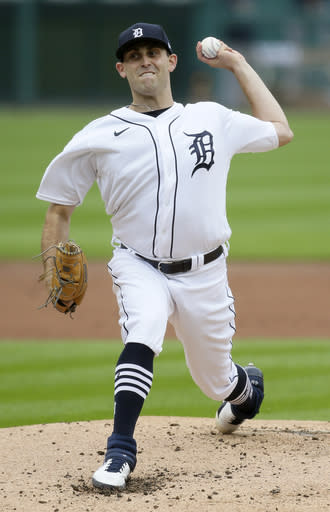 Detroit Tigers starting pitcher Matthew Boyd delivers against the Milwaukee Brewers during the second inning of a baseball game Wednesday, Sept. 9, 2020, in Detroit. (AP Photo/Duane Burleson)