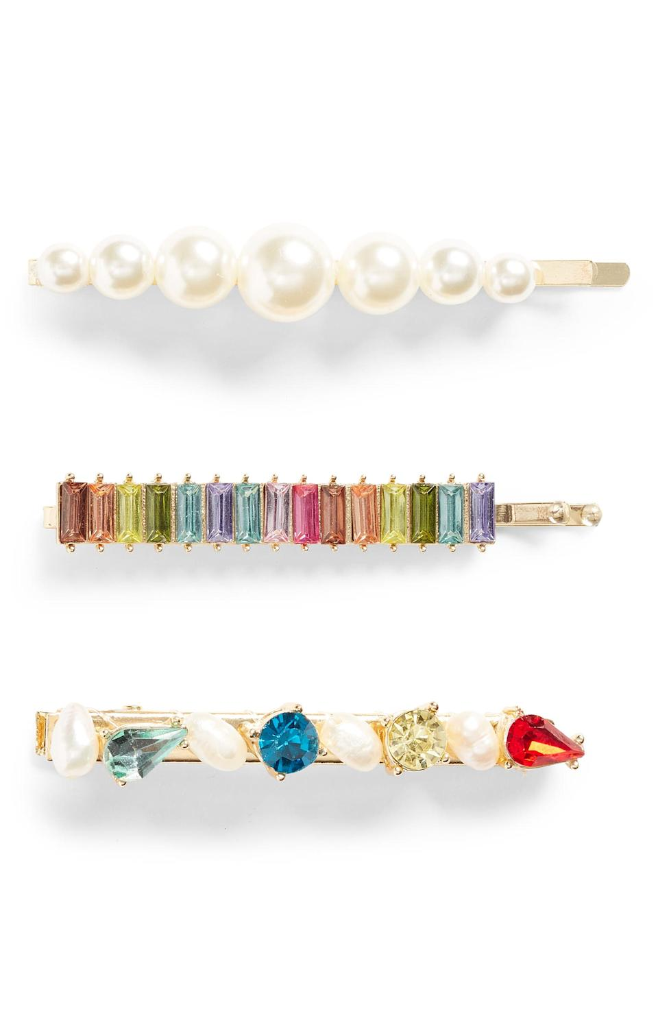 Pearl & crystal hair clips (photo courtesy of Nordstrom)