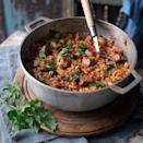 """<p>Shaped to resemble grains of barley, orzo is a type of pasta that adds an interesting texture to soups and increases your pasta repertoire. We think this is a great hearty meal and it's great to make in advance and then freeze.</p><p><strong>Recipe: <a href=""""https://www.goodhousekeeping.com/uk/food/recipes/a535692/lamb-orzo-stew/"""" rel=""""nofollow noopener"""" target=""""_blank"""" data-ylk=""""slk:Lamb and Orzo Stew"""" class=""""link rapid-noclick-resp"""">Lamb and Orzo Stew</a></strong></p>"""