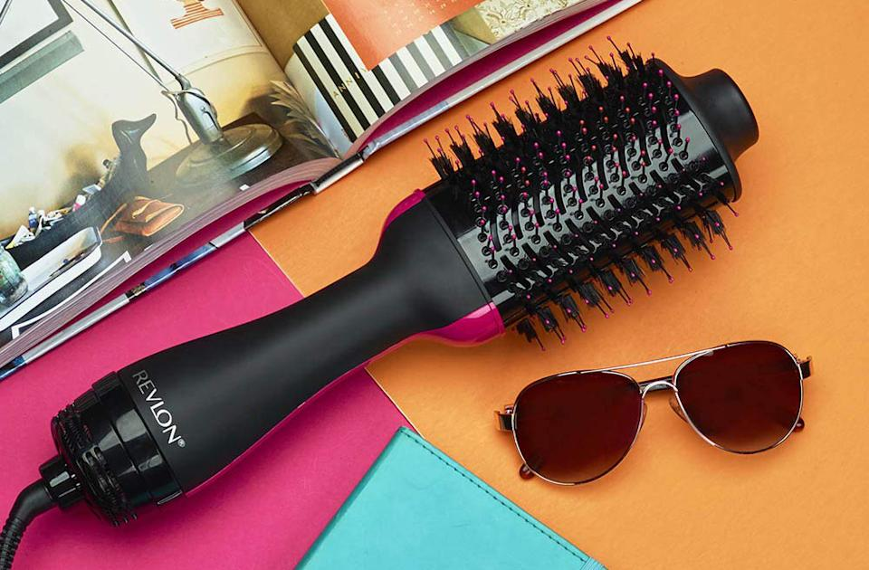 Give yourself the gift of a shiny blowout, complete with volume. (Photo: Revlon)