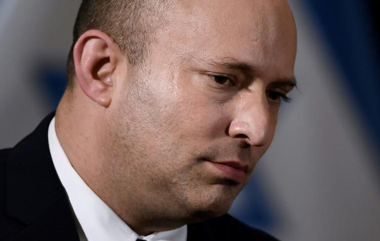 Israeli Prime Minister Naftali Bennett was careful to avoid comment on events in Kabul (AFP/Olivier DOULIERY)