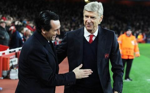 Unai Emery did not feature on Arsenal's original shortlist of potential successors to Arsene Wenger before eventually landing the job ahead of Mikel Arteta. The Gunners are set to unveil Emery as the club's new manager on a contract worth around £6million-a-year and will allow him to bring up to four members of his own backroom staff with him. But Telegraph Sport understands first contact between the two parties was only made 10 days ago – after most of the interviews had already taken place. The likes of Arteta, Patrick Vieira and Max Allegri were all first sounded out over the Arsenal post over a fortnight ago after Arsenal had drawn up their original shortlist. Emery was only put on to the club's radar by an agent once a number of candidates were waiting to hear back about their own interviews or had pulled out of the race themselves. Emery will replace Arsene Wenger at Arsenal Credit: Getty images Allegri decided against leaving Juventus for Arsenal, while Julian Nagelsmann preferred to stay at Hoffenheim for another year. Vieira has been left annoyed over the lack of contact since he spoke to the Gunners about a return. That left Arteta in pole position, but Emery managed to push his way into the frame late on and the club decided to go for what they view as a safer pair of hands following an 11th-hour U-turn. Arsenal insist the club ran through a thorough process with prime candidates and ended up with one preferred person in Emery, who is said to have produced an impressive presentation in his interview. Emery has agreed to work within the new Arsenal structure, which means he will not have the final say on transfers, and has accepted the club will operate on a limited £50m budget. One of his backroom staff is expected to be Juan Carlos Carcedo, who has followed Emery throughout his managerial career and has a fiery reputation. What can Arsenal expect from new manager Unai Emery? Carcedo was given a two-match touchline suspension in January, while working as assistant to Emery at Paris Saint-Germain, after being sent to the stands in a game against Nantes. He was also sent from the touchline while the pair were at Sevilla and served a ban. French sources have claimed that Carcedo was disliked by a number of PSG players and accused him of 'lacking warmth', which may be a shock to the Arsenal squad. The anticipated arrival of Carcedo with Emery places doubt over the position of Steve Bould, who had been waiting to see who the new manager was before making a decision on his own future. Bould has been told that, along with Jens Lehmann, a role will be found for him, but it remains to be seen if he is prepared to effectively accept a demotion. With Emery not fluent in English, Arsenal will need at least one English speaker to work closely with the club's new manager as he settles in and learns the language. Other than an assistant, Emery is set to bring a new goalkeeping coach and analysts with him to the Emirates.