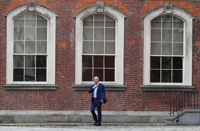 Health minister Stephen Donnelly leaving Dublin Castle (Brian Lawless/PA)