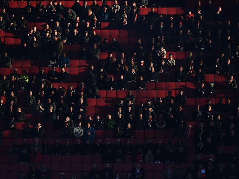 There were a number of empty seats tonight at the Emirates (Getty)