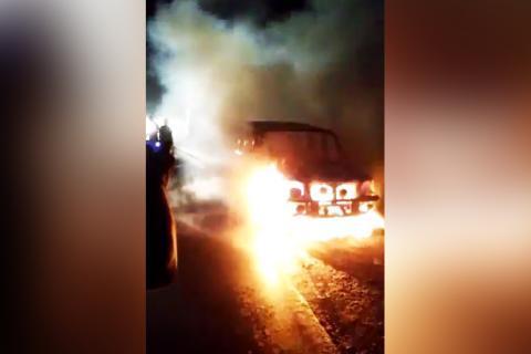 Woman burnt alive in Andhra as car catches fire on highway