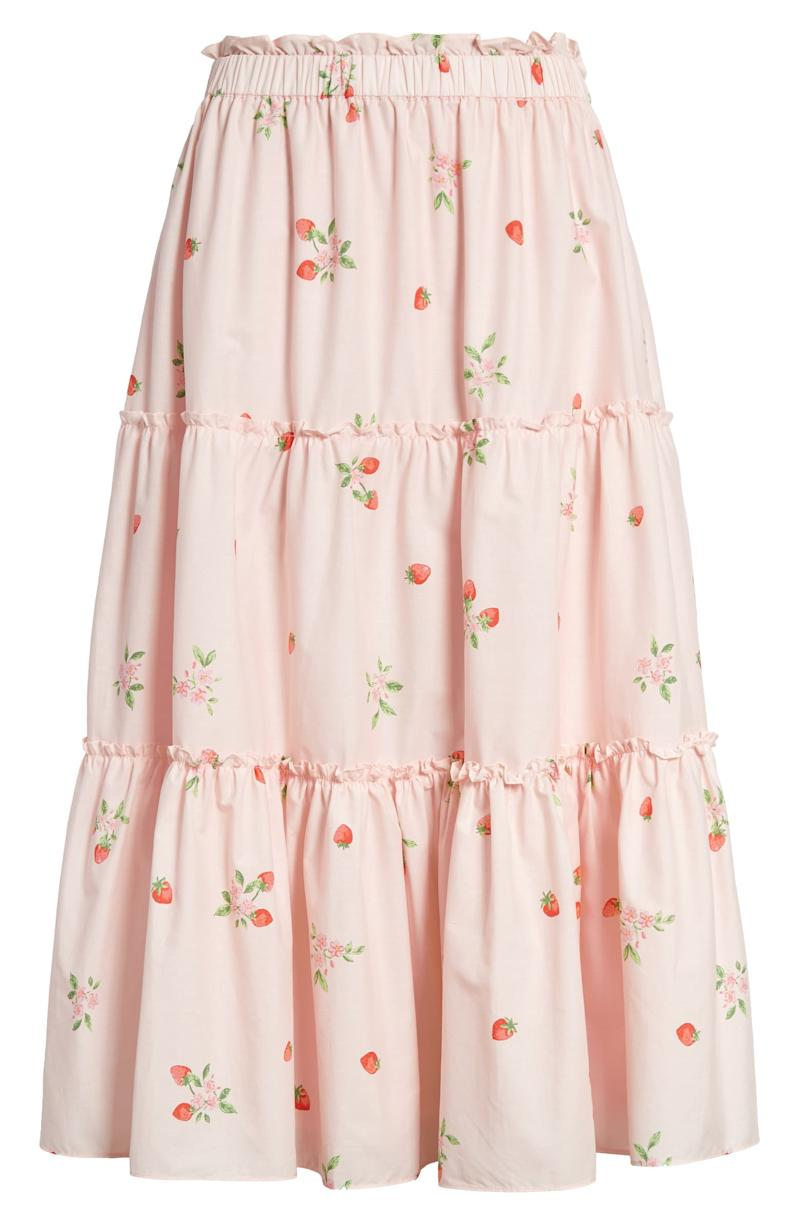 Rachel Parcell Strawberry Print Tiered Skirt. Image via Nordstrom.