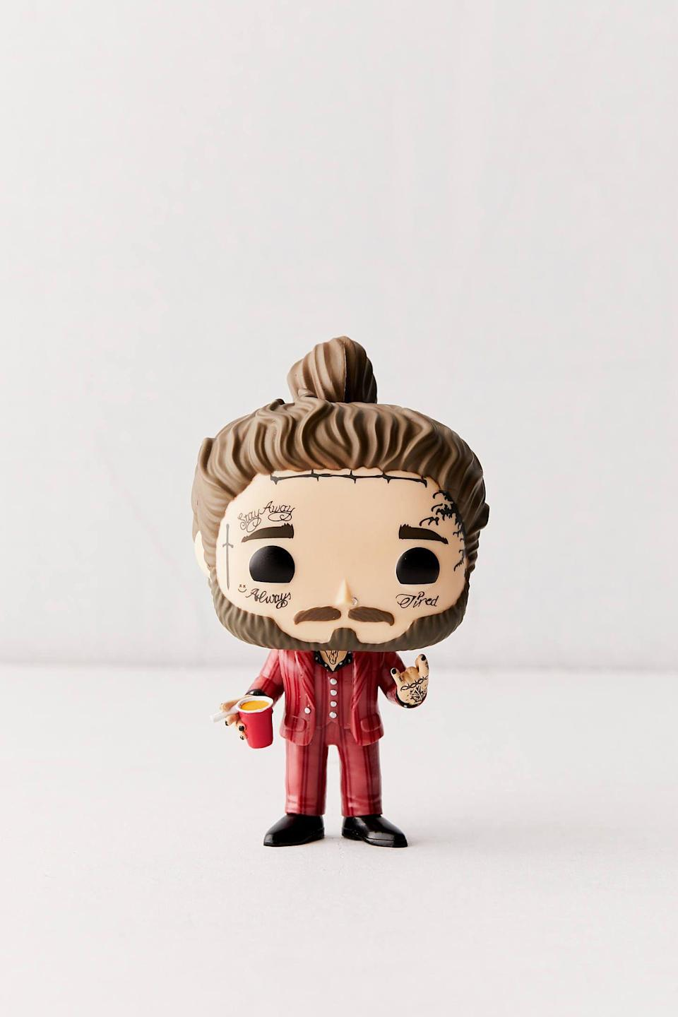 """<p><strong>Funko</strong></p><p>urbanoutfitters.com</p><p><strong>$12.00</strong></p><p><a href=""""https://go.redirectingat.com?id=74968X1596630&url=https%3A%2F%2Fwww.urbanoutfitters.com%2Fshop%2Ffunko-pop-post-malone-figure&sref=https%3A%2F%2Fwww.seventeen.com%2Flife%2Fg23515577%2Fcool-gifts-for-teen-boys%2F"""" rel=""""nofollow noopener"""" target=""""_blank"""" data-ylk=""""slk:Shop Now"""" class=""""link rapid-noclick-resp"""">Shop Now</a></p><p>Post Malone tickets are expensive! This tiny replica is the next best thing (kind of). </p>"""