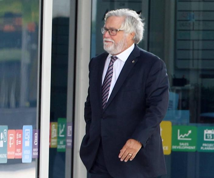 Carnival Corporation Chairman Micky Arison leaves the Wilkie D. Ferguson Jr. Federal U.S. Courthouse on Monday October 2, 2019 after a hearing on pollution charges and probation violations that stem from the company's 2016 conviction for dumping oily waste into the ocean from its ships.