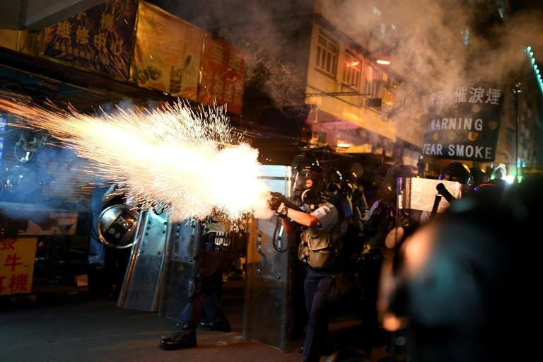 The Hong Kong protests have been dogged by escalating violence (AFP Photo/Manan VATSYAYANA)