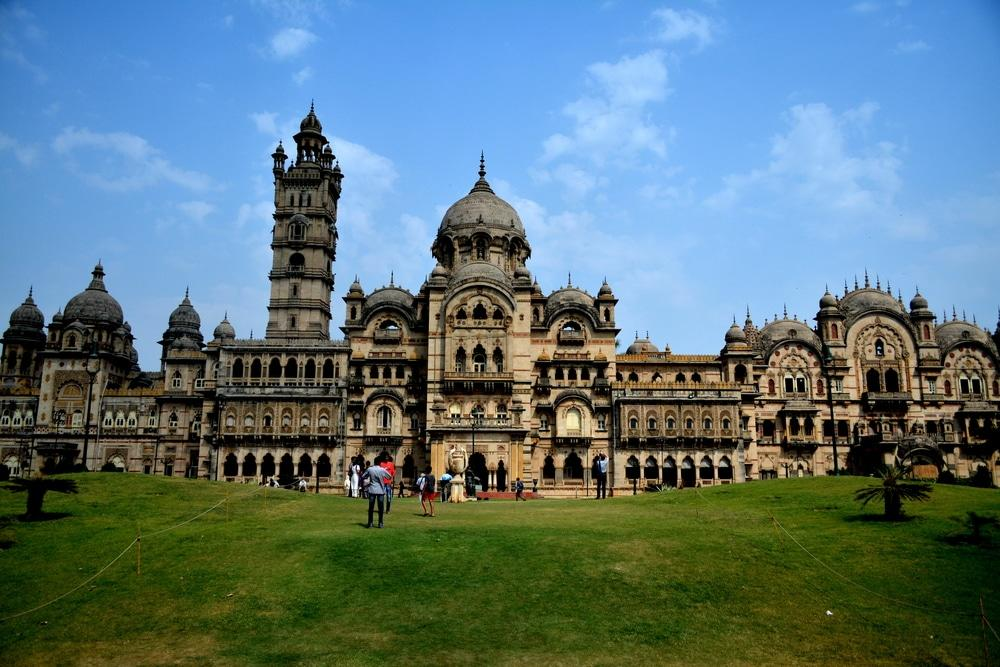 <p>Lakshmi Vilas Palace, Vadodara: Boasting of a Hindu and European architecture, the Laxmi Vilas palace is one the largest private residences in the world. It was built by the Gaekwads in 1890 Source: http://www.transindiatravels.com/india/best-places-to-visit-in-india/ </p>