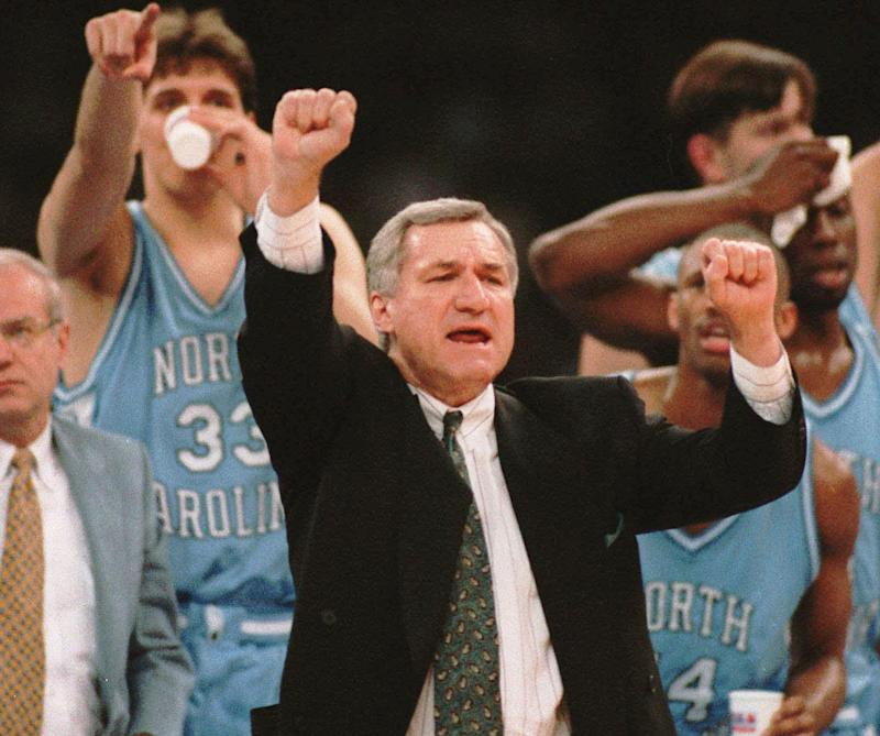 Dean Smith won his second national championship in the Superdome in 1993. (AP Photo / David Longstreath)