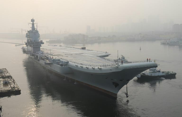 The ship, which has yet to be named, is Beijing's second carrier and will add massive firepower to its navy