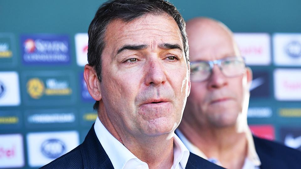 Steven Marshall, pictured here speaking to the media in Adelaide.