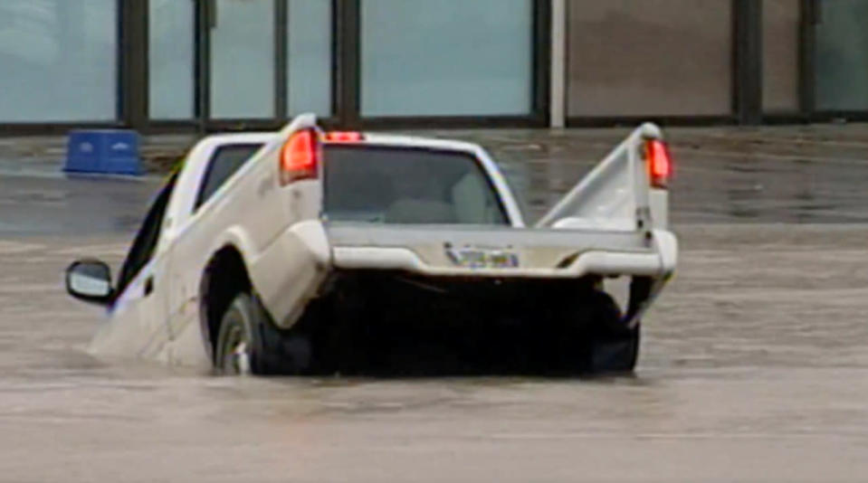 When a thunderstorm stalled over Peterborough and turned streets into rivers