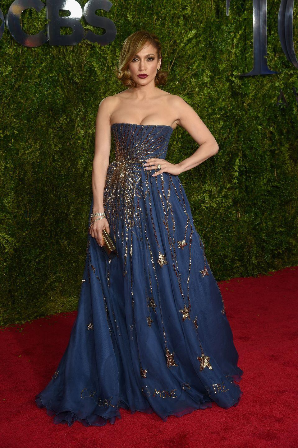 <p><strong>When: </strong>June 2015</p><p><strong>Where:</strong> The Tony Awards</p><p><strong>Wearing: </strong>Zuhair Murad</p>