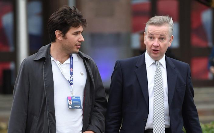 Is Henry Newman the 'chatty rat'? The adviser is pictured with Michael Gove, his former boss. - Eddie Mulholland