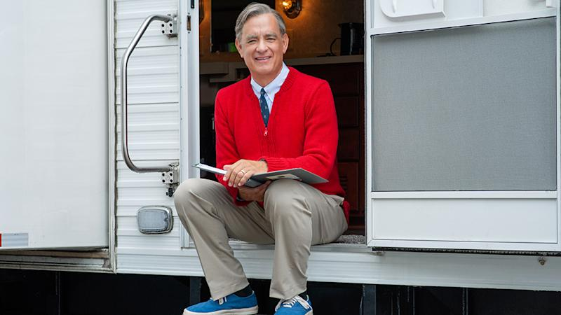Two-time Oscar®-winner Tom Hanks portrays one of America's most cherished icons, Mister Rogers, on the set of TriStar Pictures' Untitled Mr. Rogers / Tom Hanks Project. Photo Credit: Lacey Terrell