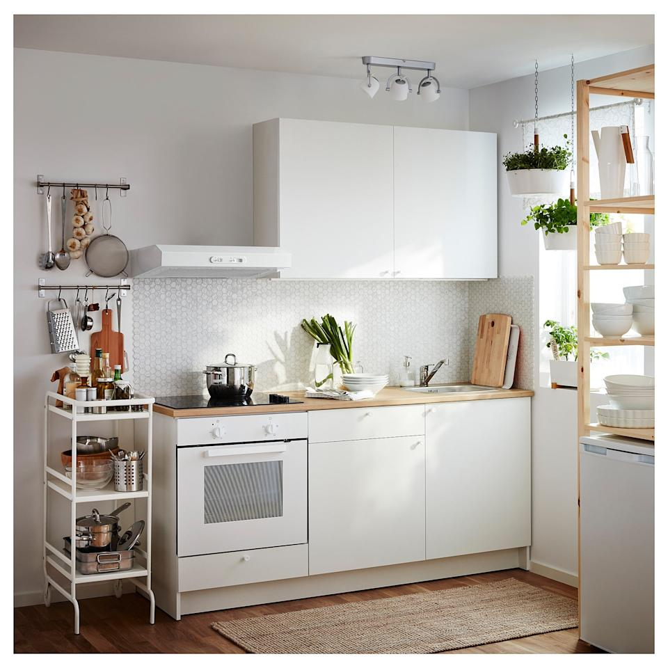 """<p>If you're building your kitchen from scratch, this <a href=""""https://www.popsugar.com/buy/Knoxhult-Base-Corner-Cabinet-474149?p_name=Knoxhult%20Base%20Corner%20Cabinet&retailer=ikea.com&pid=474149&price=119&evar1=casa%3Aus&evar9=46441488&evar98=https%3A%2F%2Fwww.popsugar.com%2Fphoto-gallery%2F46441488%2Fimage%2F46441754%2FKnoxhult-Base-Corner-Cabinet&list1=shopping%2Cfurniture%2Cikea%2Ckitchens&prop13=api&pdata=1"""" rel=""""nofollow"""" data-shoppable-link=""""1"""" target=""""_blank"""" class=""""ga-track"""" data-ga-category=""""Related"""" data-ga-label=""""https://www.ikea.com/us/en/catalog/products/70372271/"""" data-ga-action=""""In-Line Links"""">Knoxhult Base Corner Cabinet</a> ($119) is just what you need. Complete with spacious cupboards and a sleek make, it will turn your space into an organized oasis.</p>"""