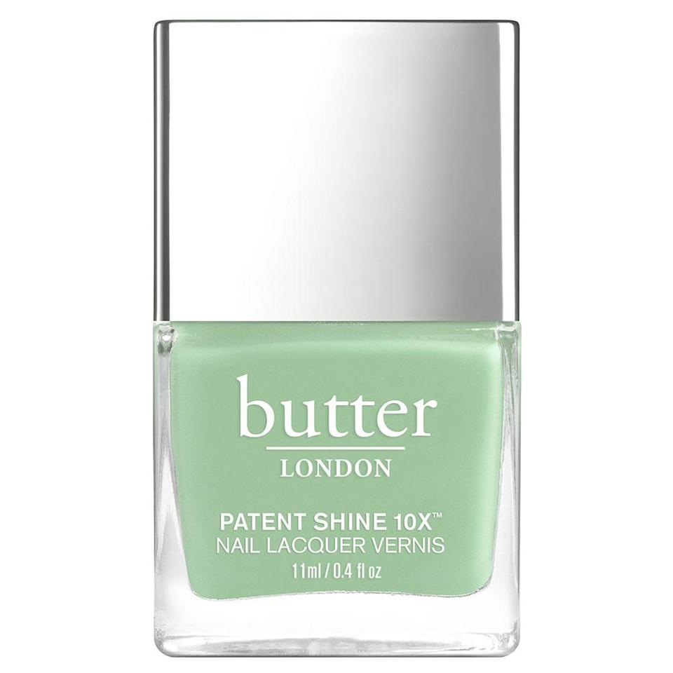 """<p>You may often feel like the grass is always greener, until it's adorning your nails. This lush, soft, grassy color will inspire and motivate you towards attaining greatness over the next few weeks — all of which you are totally ready for. Get moving, Cap! It's a busy month ahead!</p> <p><strong>To shop: </strong>$18; <a href=""""https://www.butterlondon.com/bl-good-vibes-ps10x-nail-lacqu"""" rel=""""sponsored noopener"""" target=""""_blank"""" data-ylk=""""slk:butterlondon.com"""" class=""""link rapid-noclick-resp"""">butterlondon.com</a></p>"""