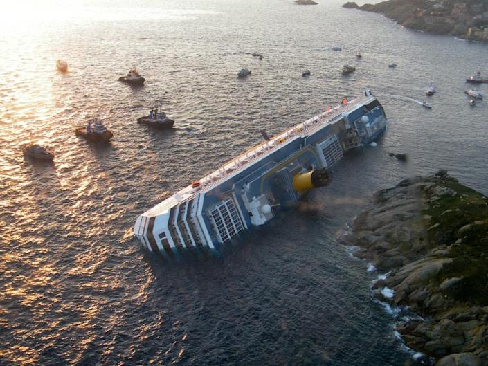 Costa Crociere, the ship's owner, accepted partial responsibility for the disaster which claimed 32 lives (AFP Photo/Italian Guardia de Finanza)