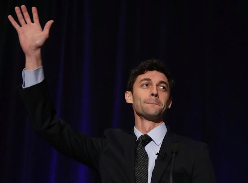 Democratic candidate Jon Ossoff speaks to his supporters on April 18, 2017 in Atlanta, Georgia
