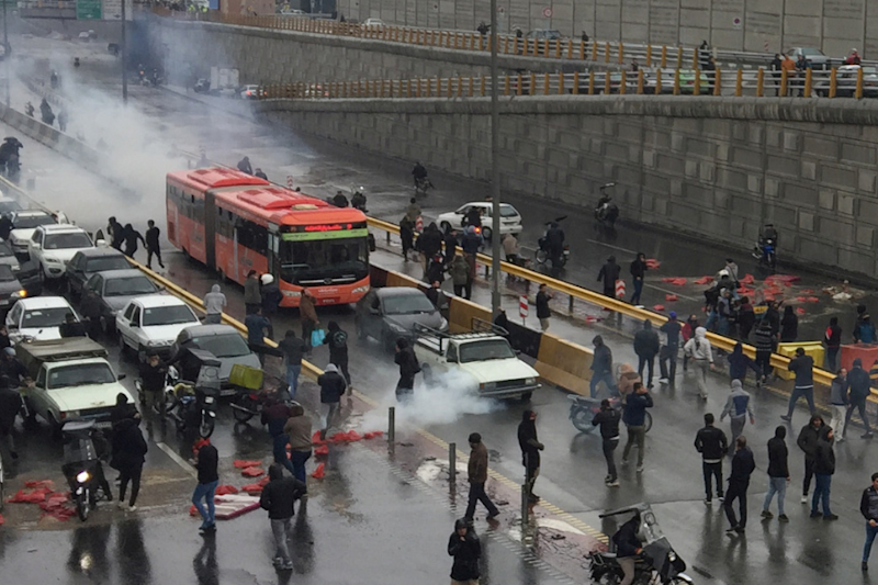 One Dead After Surprise Decision on Petrol Price Hike Sparks Violent Protests Across Iran
