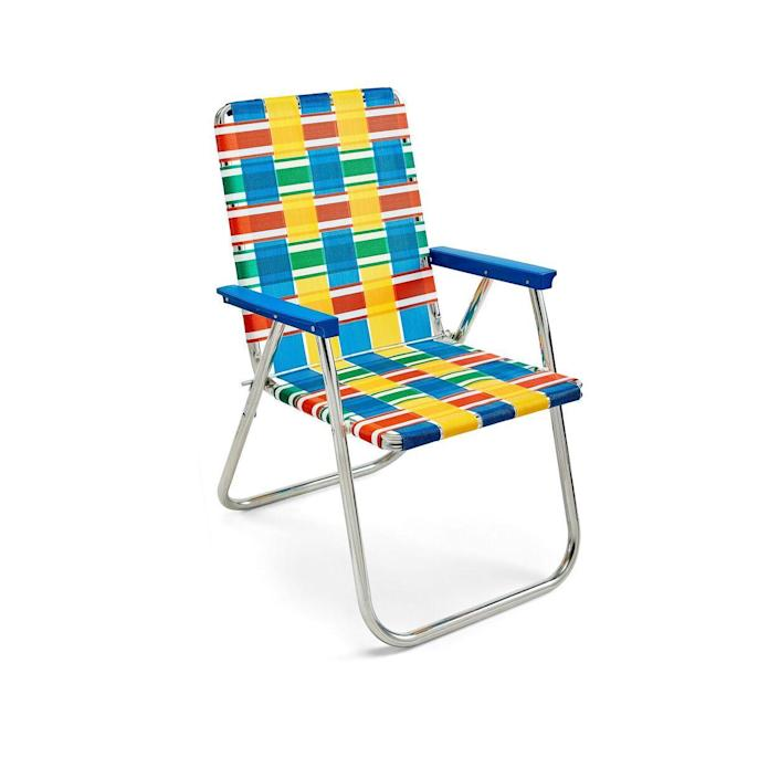 """<p>moma.org</p><p><strong>$75.00</strong></p><p><a href=""""https://store.moma.org/for-the-home/home/furniture/chairs/classic-lawn-chair/11001.html"""" rel=""""nofollow noopener"""" target=""""_blank"""" data-ylk=""""slk:Shop Now"""" class=""""link rapid-noclick-resp"""">Shop Now</a></p><p>A staple of the summer barbecue or 4th of July Parade, the woven mesh and steel seat is as American as apple pie. First introduced in the Post WWII era, the chair took its cues from the modernism movement happening at the time—with the added American attributes of color and comfort. </p>"""