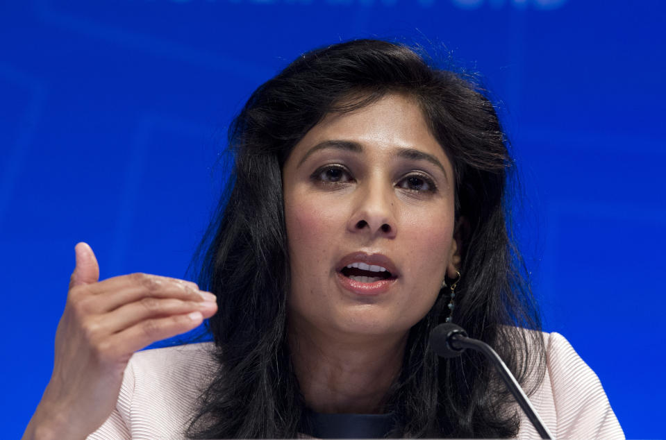 Chief Economist and Director of Research Department at the IMF, Gita Gopinath