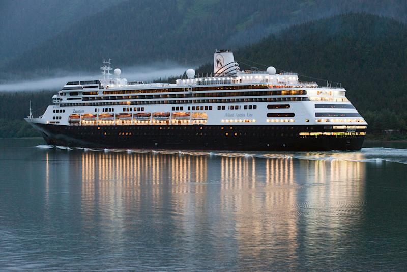 The MS Zaandam, pictured in Alaska during an earlier voyage.  (Photo: VW Pics via Getty Images)