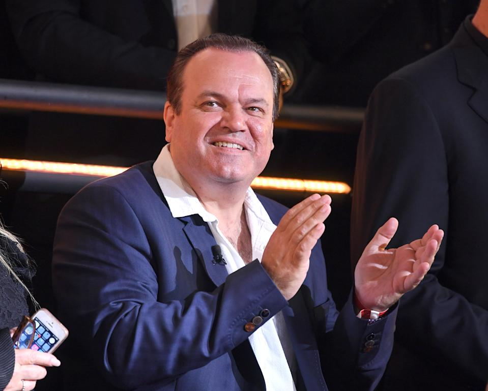 BOREHAMWOOD, ENGLAND - AUGUST 25:  Ex-housemate Shaun Williamson attends the Celebrity Big Brother Final at Elstree Studios on August 25, 2017 in Borehamwood, England.  (Photo by Karwai Tang/WireImage)