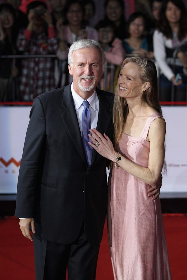 BEIJING, CHINA - APRIL 23:  Canadian film director James Cameron (Left) and his wife Suzy Amis arrive for the red carpet of 2nd Beijing International Film Festival at China National Convention Center on April 23, 2012 in Beijing, China.  (Photo by Feng Li/Getty Images)