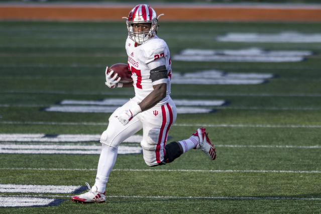 "<a class=""link rapid-noclick-resp"" href=""/ncaaf/players/281195/"" data-ylk=""slk:Morgan Ellison"">Morgan Ellison</a> had been suspended from the Hoosiers for the entire 2018 season. (AP Photo)"