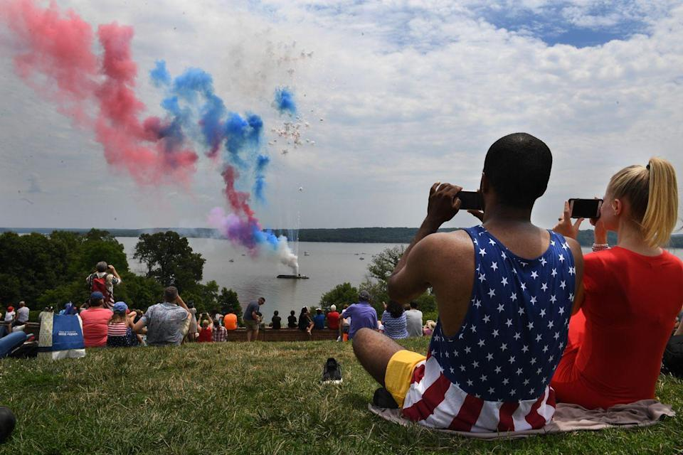 """<p><strong>Mount Vernon, Virginia</strong><br><br>Celebrate the holiday by watching the fireworks during the annual 4th of July celebration at scenic <a href=""""https://www.mountvernon.org/plan-your-visit/calendar/events/independence-fireworks/"""" rel=""""nofollow noopener"""" target=""""_blank"""" data-ylk=""""slk:Mount Vernon"""" class=""""link rapid-noclick-resp"""">Mount Vernon</a> this summer.</p>"""