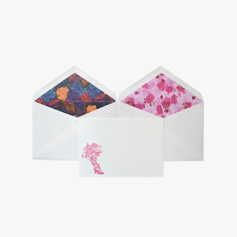 """Jonathan Cohen and Dempsey & Carroll teamed up to launch stationery inspired by Cohen's digital flower shop and his FW20 collection. $65, JONATHAN COHEN. <a href=""""https://www.jonathancohenstudio.com/our-flower-shop"""" rel=""""nofollow noopener"""" target=""""_blank"""" data-ylk=""""slk:Get it now!"""" class=""""link rapid-noclick-resp"""">Get it now!</a>"""