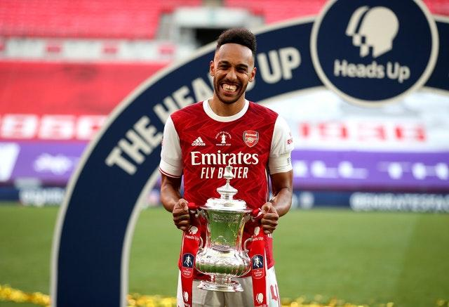 Pierre-Emerick Aubameyang inspired the Gunners to FA Cup and Community Shield glory last month