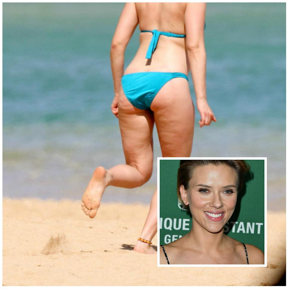 """<p>After receiving criticism over her cellulite, Johansson responded: """"I'm very comfortable with my body."""" Yeah, girl! <i>(Photo: Splash/Getty)</i> </p>"""