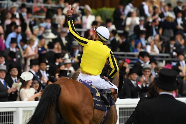 James DOyle celebrates his Gold Cup victory in 2017 (Getty Images)