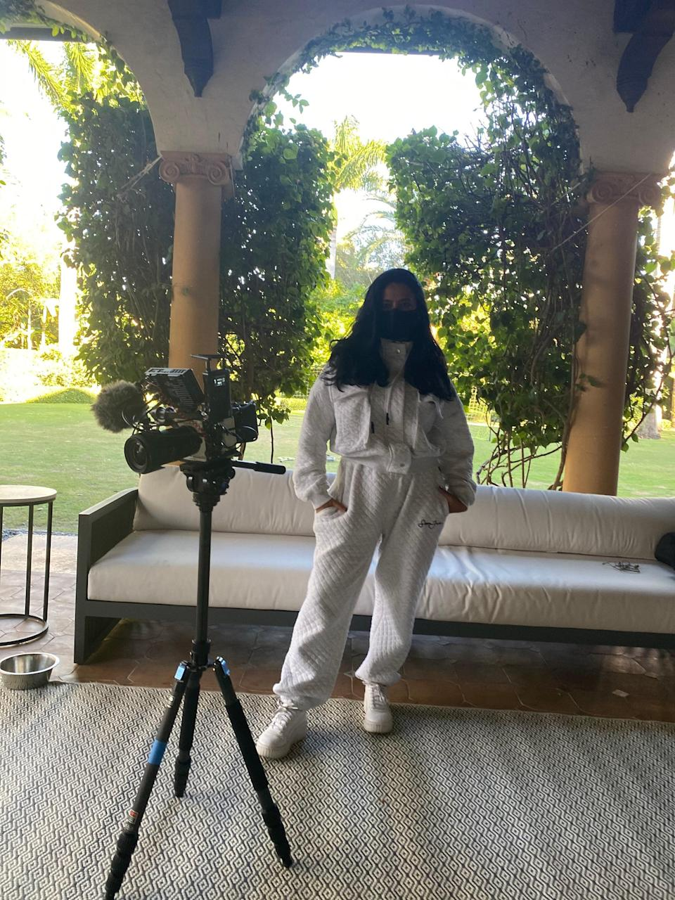 Reshma B during the filming of Studio 17: The Lost Reggae Tapes, 2019.