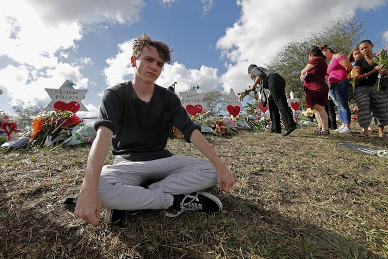 Chris Grady is one of about 100 Stoneman Douglas students heading to Tallahassee to push lawmakers to do something to stop gun violence: AP