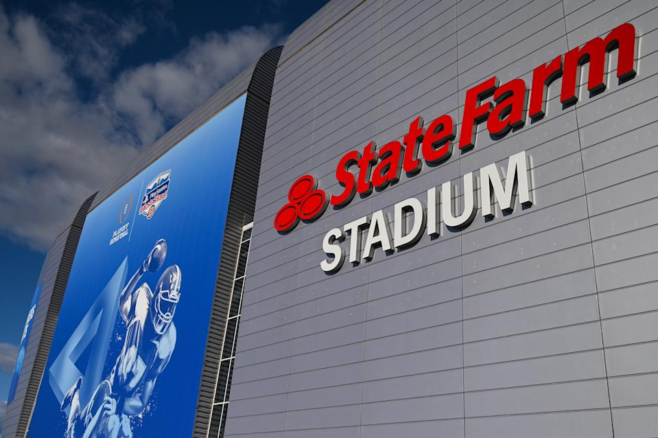 GLENDALE, AZ - DECEMBER 28: A general view of the State Farm Stadium before the 2019 PlayStation Fiesta Bowl college football playoff semifinal game between the Ohio State Buckeyes and the Clemson Tigers on December 28, 2019 at State Farm Stadium in Glendale, AZ. (Photo by Brian Rothmuller/Icon Sportswire via Getty Images)