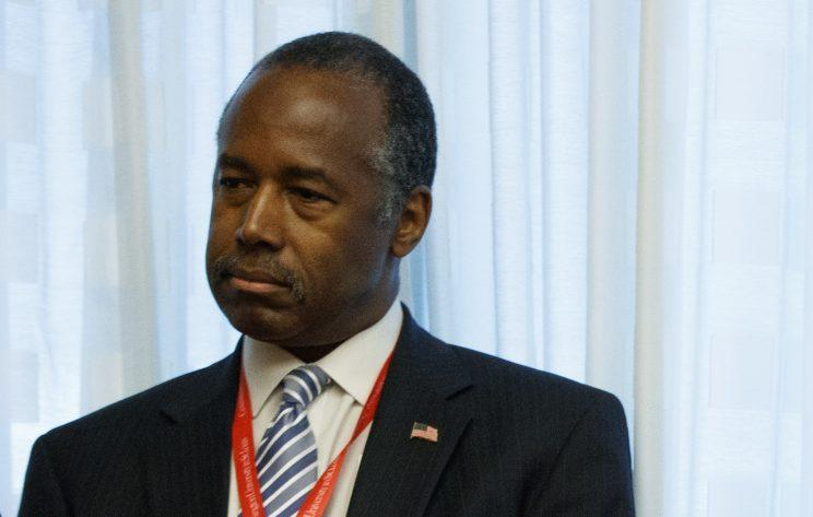 Ben Carson at Washington University in St. Louis. (Photo: Evan Vucci/AP)