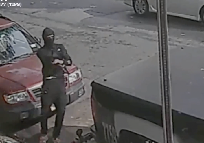 A man was seen shooting his gun on a street in Brooklyn (The New York Police Department)