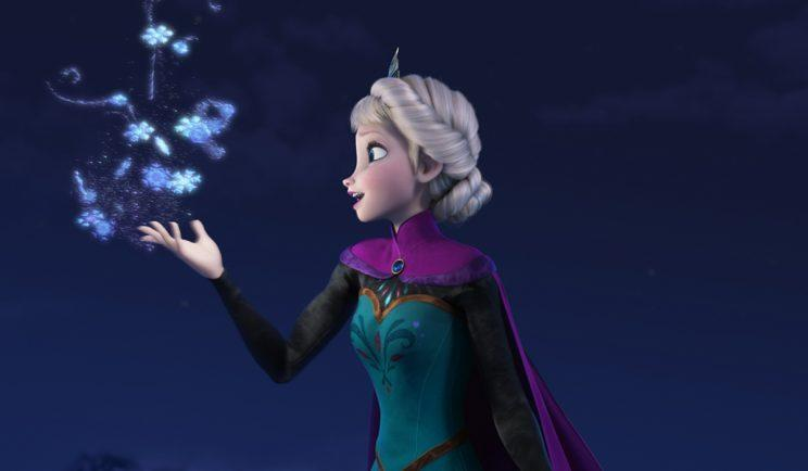 Elsa does her magic. Credit - Rex_Shutterstock