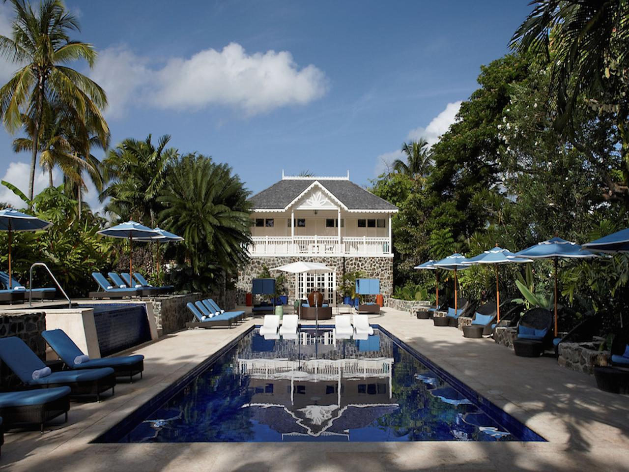 """As a resort for <a href=""""https://www.cntraveler.com/gallery/the-30-most-romantic-adventures?mbid=synd_yahoo_rss"""" target=""""_blank"""">couples</a>, St. Lucia's <a href=""""https://www.theromanticholiday.com/"""">Rendezvous Resort</a> values unplugged time above anything else. This beachfront all-inclusive feels less like a honeymoon resort and more like a place for not-so-newly weds to reconnect and practice a digital detox together with secluded pools, a lazy river with secret nooks to explore, and plenty of active wellness offerings. Yes, there's yoga and a newly renovated spa. But there are also harder to find classes like on-the-beach Tai Chi and Calypso dance lessons. If you've come to the Caribbean for water sports, Rendezvous offers complimentary SCUBA boat dives and Hobie Cat catamarans for sunset sailing."""