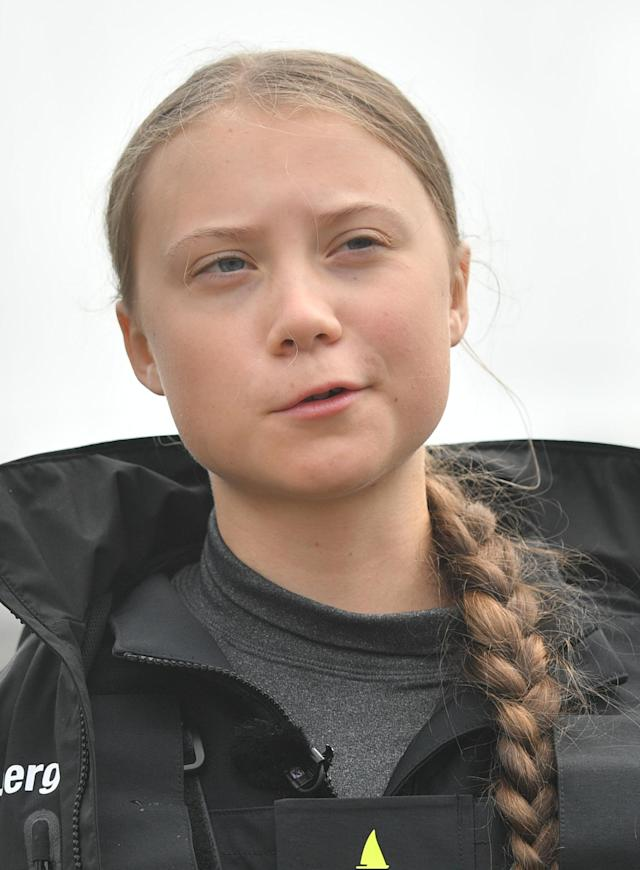 File photo dated 14/08/19 of environmental activist Greta Thunberg. (PA)